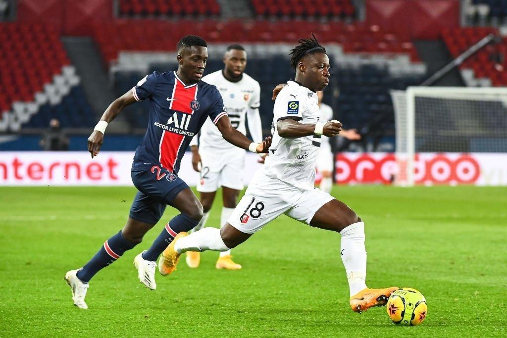 Idrissa Gueye (PSG) sort sur blessure contre Rennes