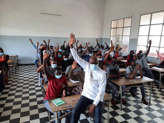 Lycée Lamine Guèye : le ministre de la culture et de la communication, Abdoulaye Diop de retour en classe